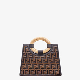 FENDI RUNAWAY SHOPPING - Shopper aus Leder Mehrfarbig - view 4 thumbnail