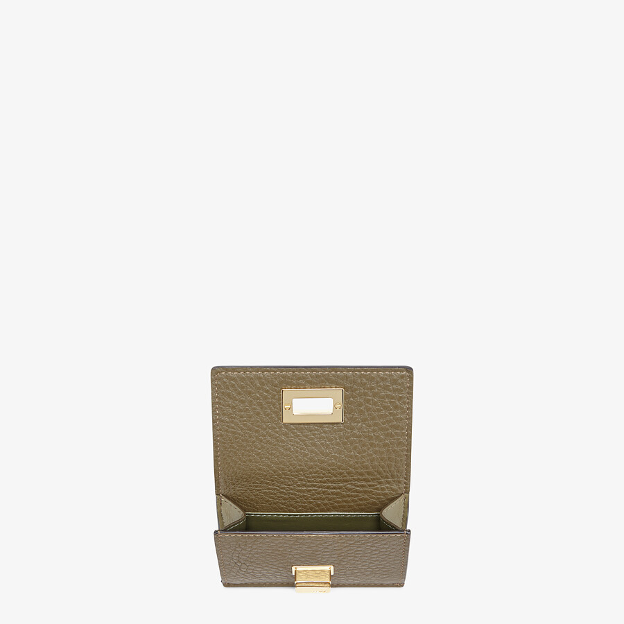 FENDI MICRO TRIFOLD - Brown leather wallet - view 3 detail