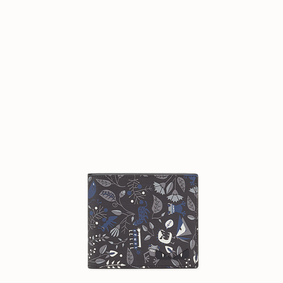 FENDI WALLET - Printed black leather bi-fold - view 1 detail