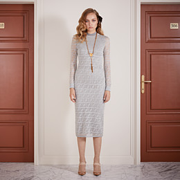 FENDI DRESS - Silver knitted dress - view 4 thumbnail