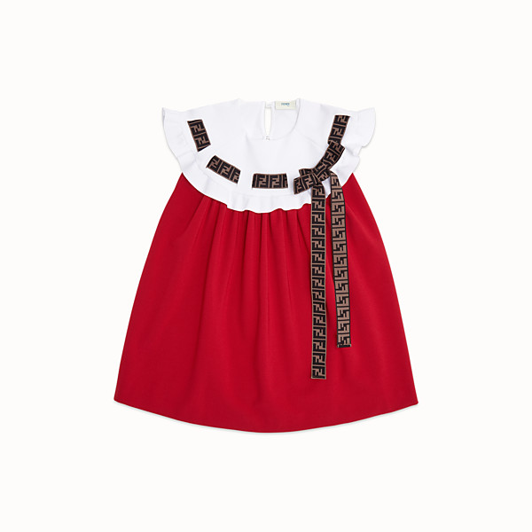 FENDI DRESS - Milano-stitch red and ivory dress - view 1 small thumbnail