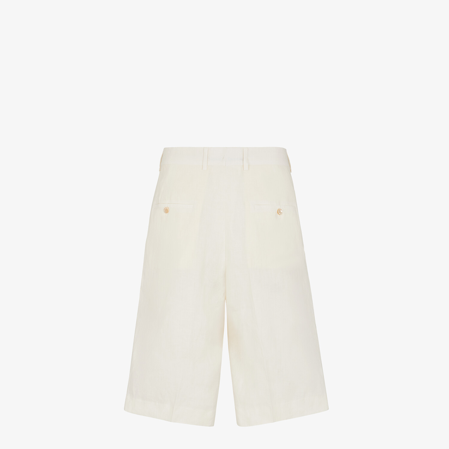 FENDI BERMUDAS - Natural hemp fabric trousers - view 2 detail