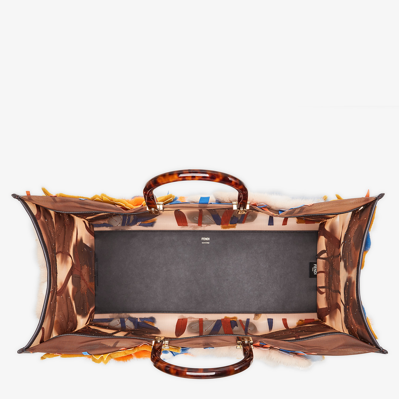 FENDI FENDI SUNSHINE XL - Mesh and mink shopper - view 5 detail
