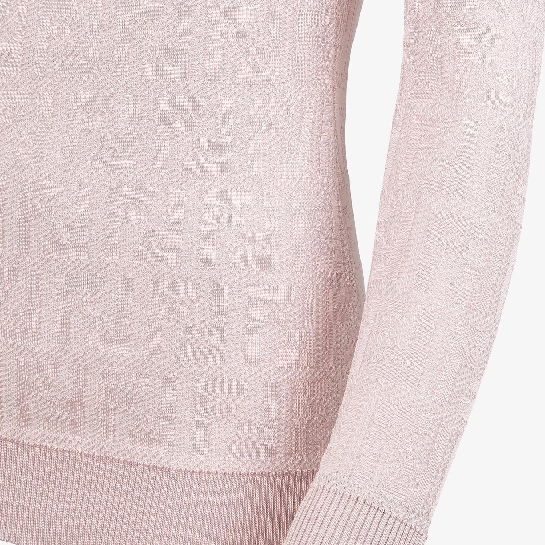 FENDI JUMPER - Pink cotton and viscose jumper - view 3 detail