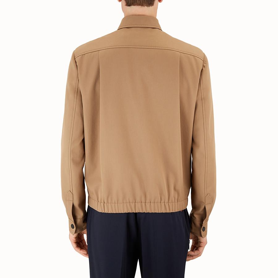 FENDI JACKET - Brown gabardine jacket - view 2 detail