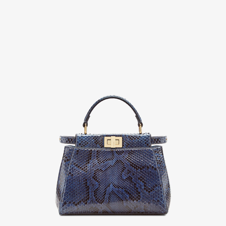 FENDI PEEKABOO ICONIC MINI - Blue python handbag. - view 1 detail