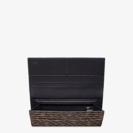 FENDI CONTINENTAL - Brown fabric wallet - view 3 thumbnail