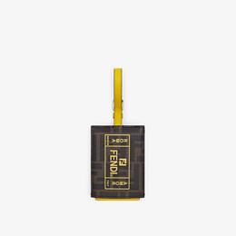 FENDI ADDRESS CARD - Yellow PU travel tag - view 1 thumbnail