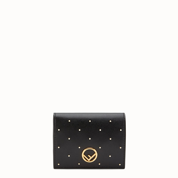 FENDI BIFOLD - Black leather compact wallet - view 1 small thumbnail