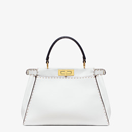 FENDI PEEKABOO ICONIC MEDIUM - White leather bag - view 4 thumbnail