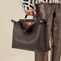 FENDI PEEKABOO ICONIC ESSENTIAL - Brown leather bag - view 6 thumbnail