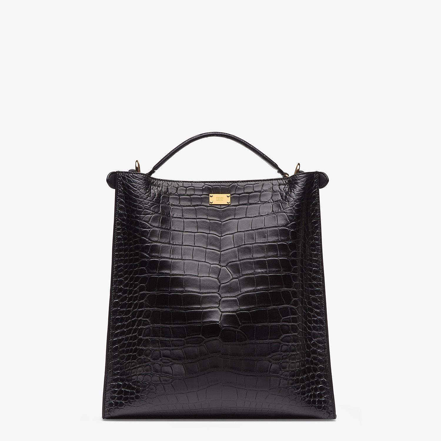 FENDI PEEKABOO X-LITE FIT - Black alligator leather bag - view 4 detail