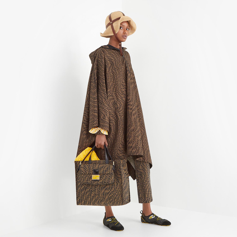 FENDI CLOAK - Brown nylon cape - view 6 detail