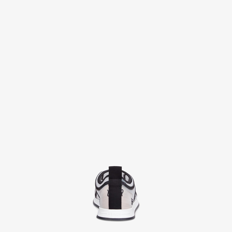 FENDI SNEAKERS - White mesh sneakers - view 3 detail