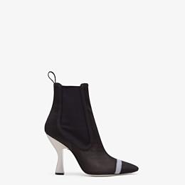 FENDI ANKLE BOOTS - Black mesh booties - view 1 thumbnail
