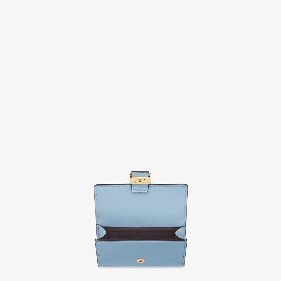 FENDI CARD HOLDER - Cardholder in light blue nappa leather - view 3 detail