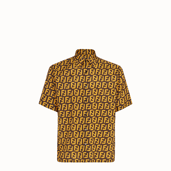 FENDI SHIRT - Brown fabric shirt - view 1 small thumbnail