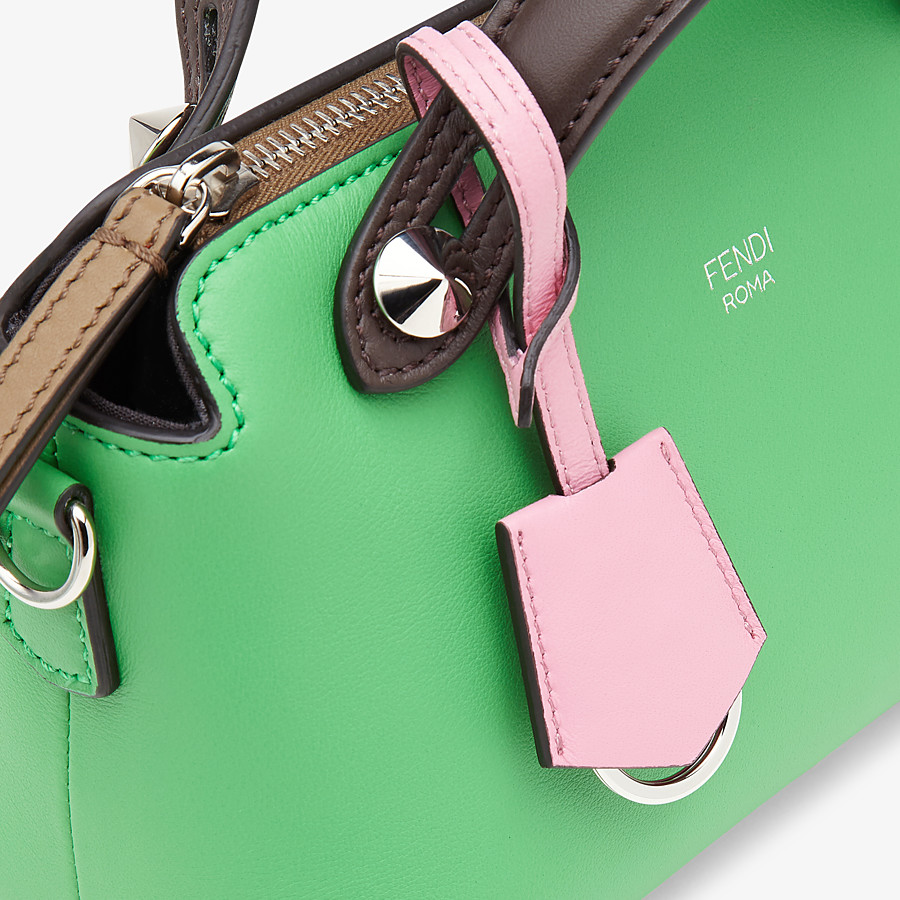 FENDI BY THE WAY MINI - Green leather small Boston bag - view 6 detail