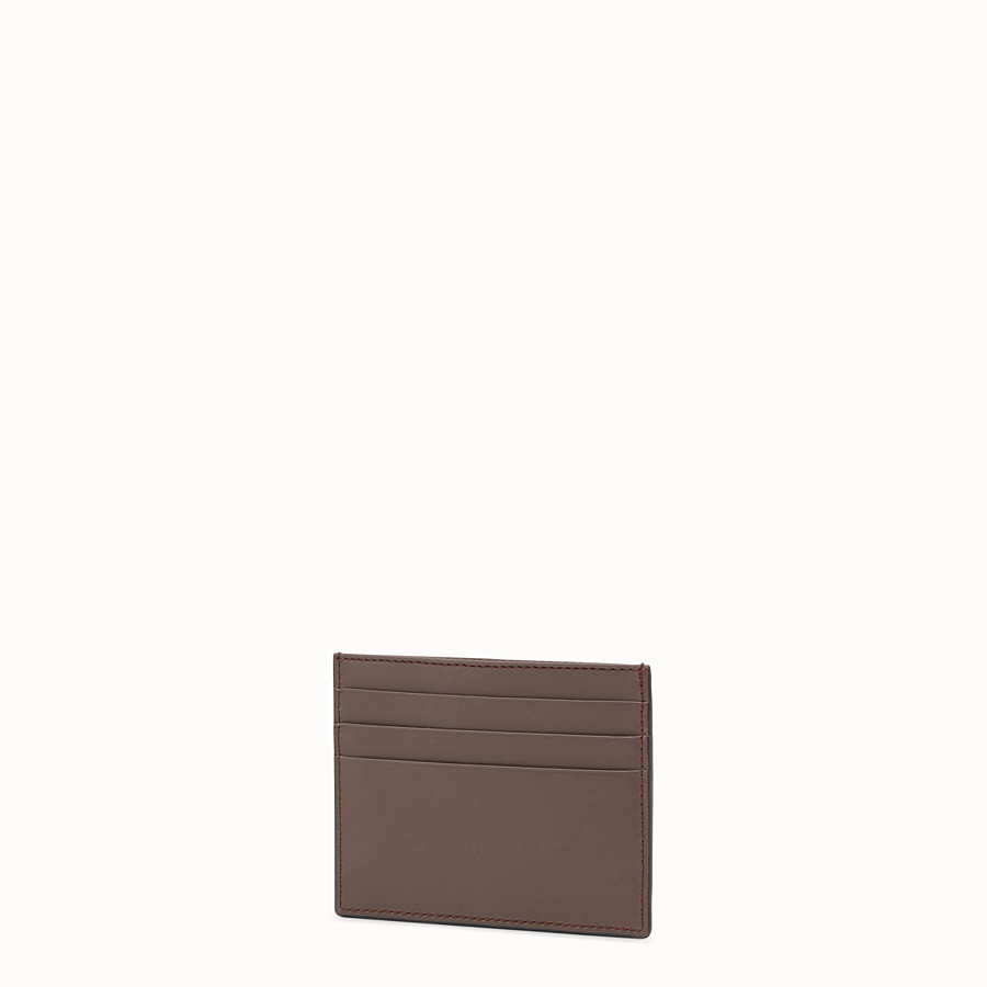 FENDI CARD HOLDER - Brown leather card holder - view 2 detail