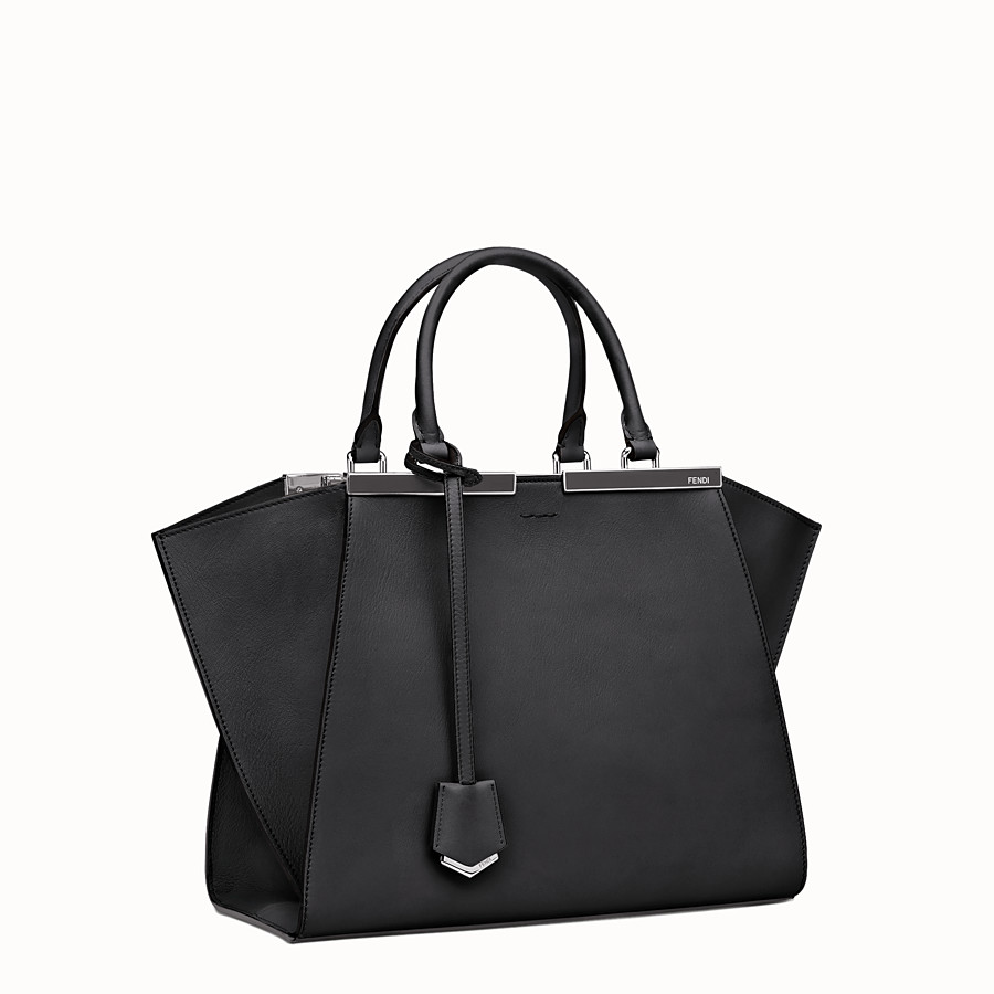 FENDI 3JOURS - shopping bag in black leather - view 2 detail