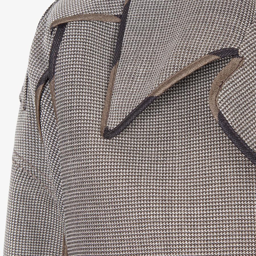 FENDI BLOUSON JACKET - Houndstooth wool jacket - view 3 detail
