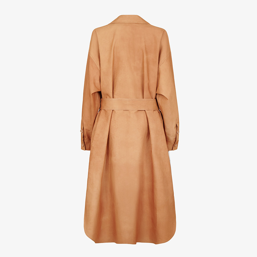 FENDI OVERCOAT - Brown cotton trench coat - view 2 detail