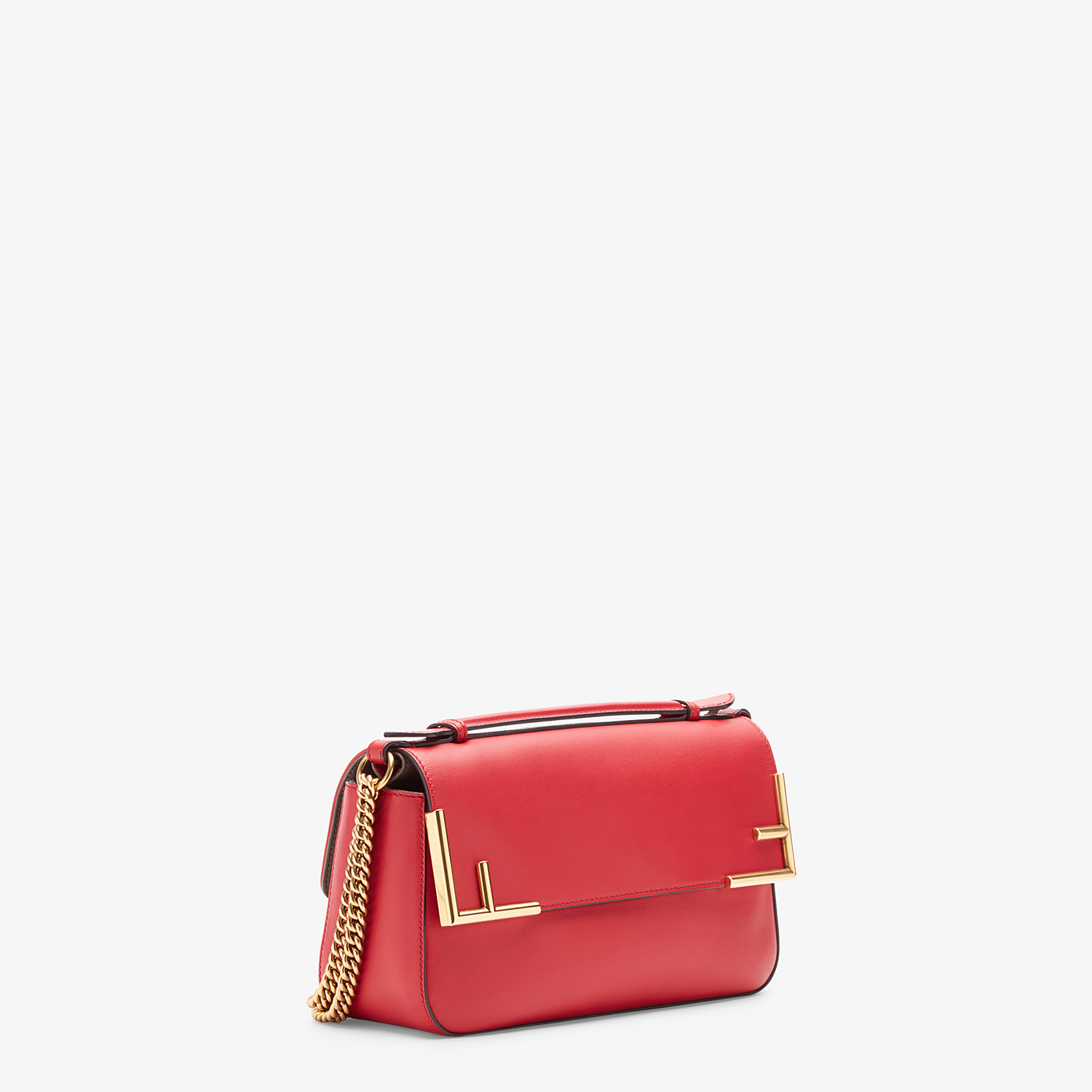 FENDI DOUBLE F - Multicolour leather and fabric bag - view 3 detail