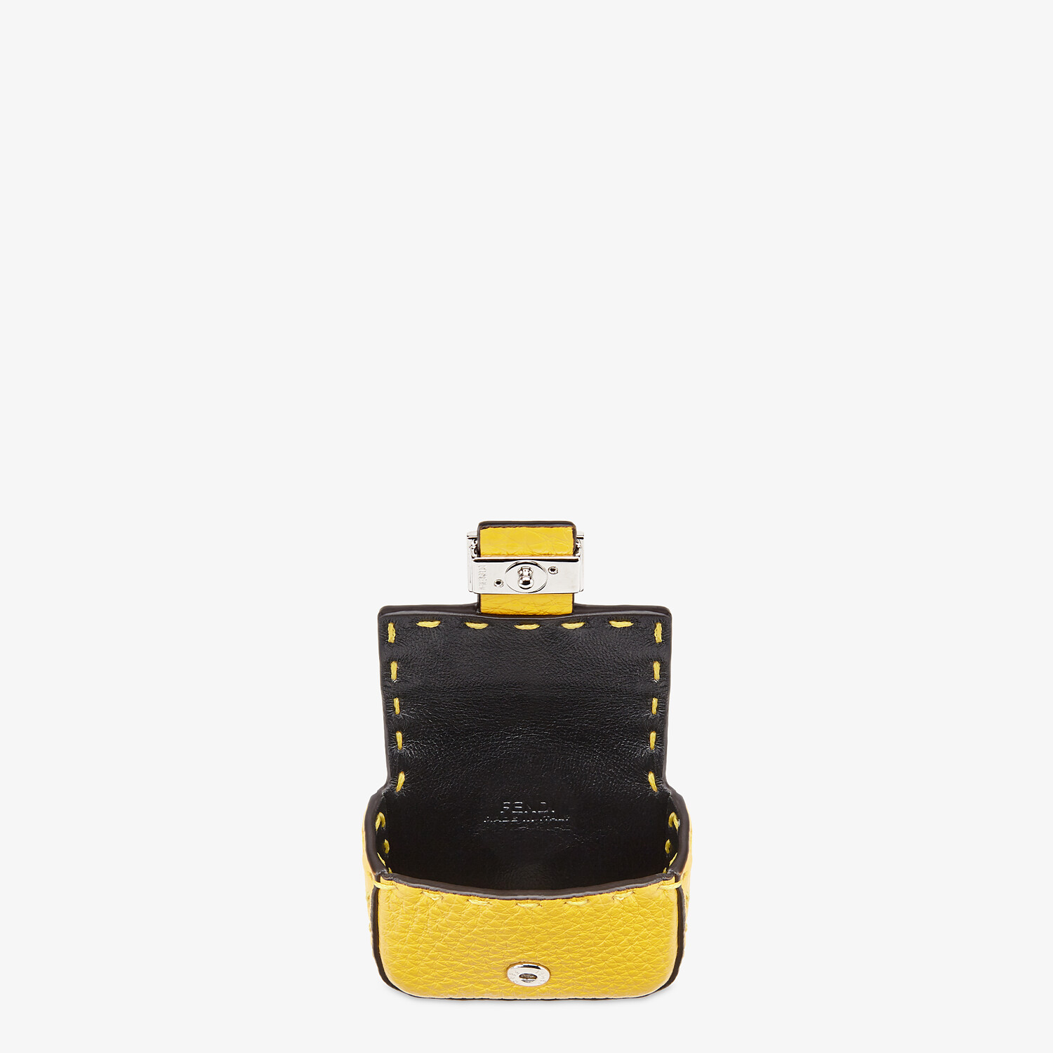 FENDI AIRPODS COVER - Yellow leather cover - view 3 detail