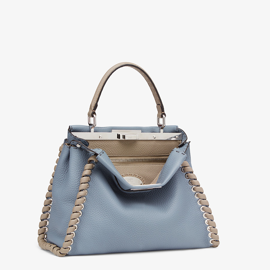 FENDI PEEKABOO ICONIC MEDIUM - Tasche aus Leder in Blau - view 3 detail