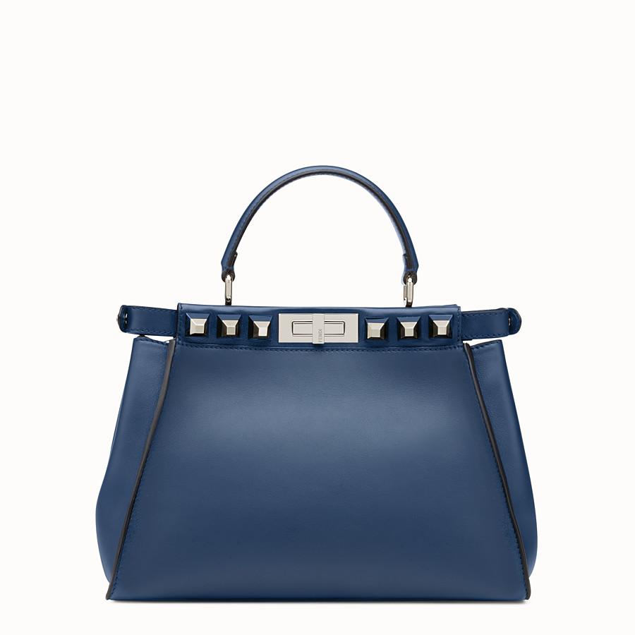 FENDI PEEKABOO REGULAR - Bag in midnight blue leather - view 3 detail