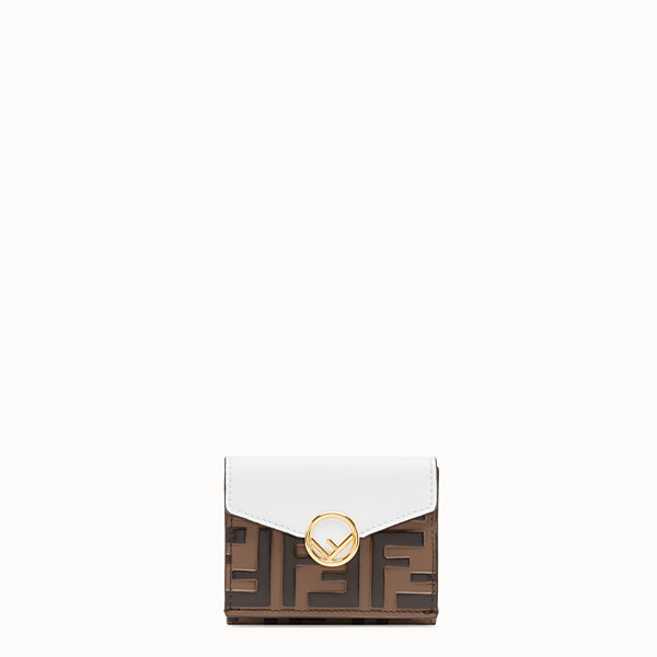 FENDI MICRO TRIFOLD - White leather wallet - view 1 small thumbnail