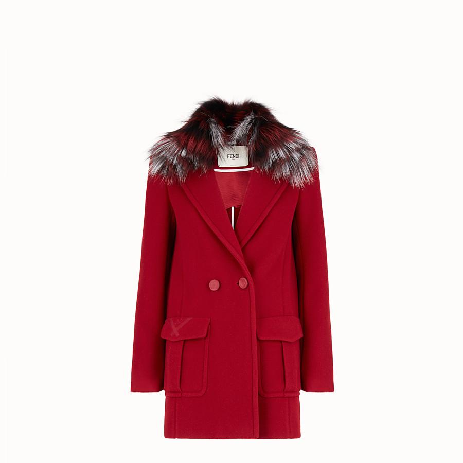 Caban en laine rouge - MANTEAU   Fendi 6940dff010e