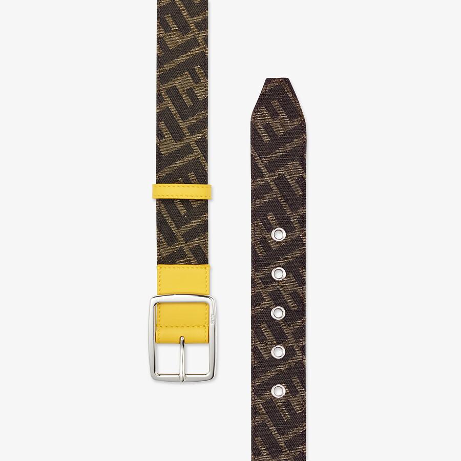 FENDI BELT - Brown fabric belt - view 2 detail