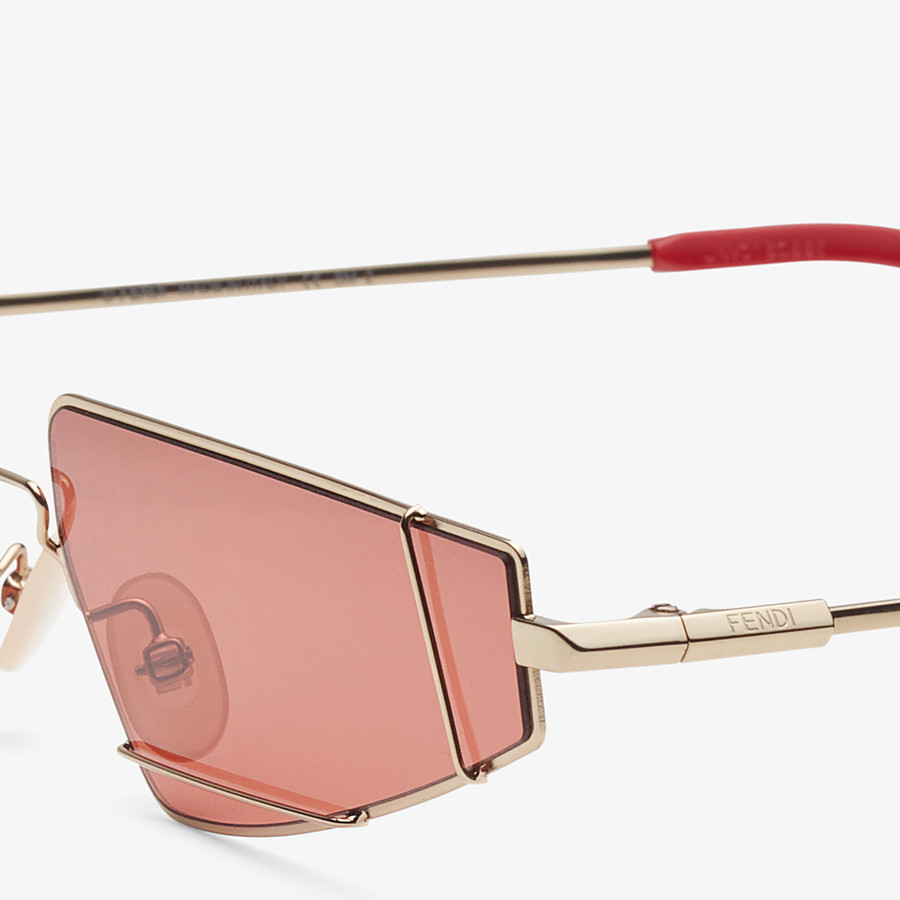 FENDI FENDIFIEND - Gold and red sunglasses - view 3 detail