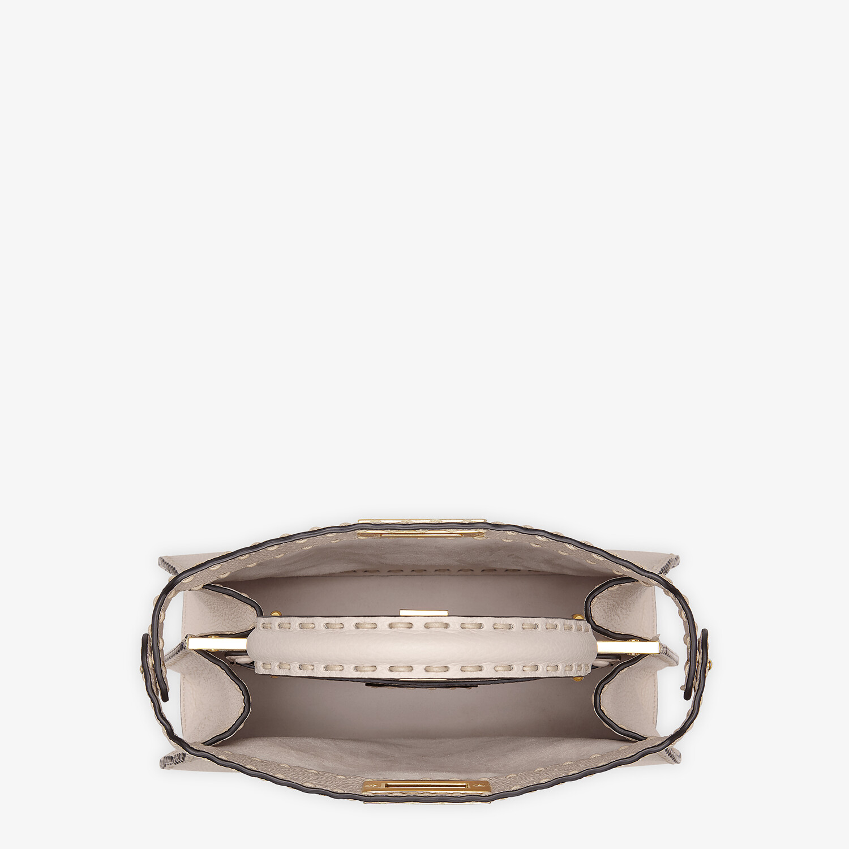 FENDI PEEKABOO ISEEU MEDIUM - White full grain leather bag - view 6 detail
