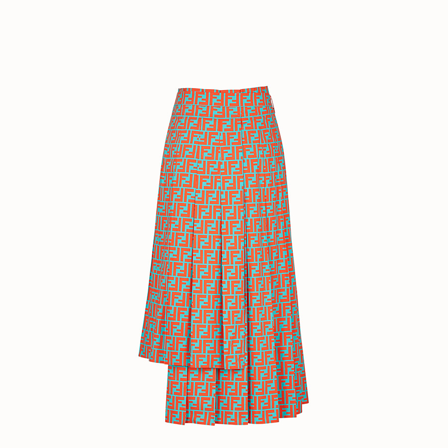 FENDI SKIRT - Multicolour cotton skirt - view 2 detail