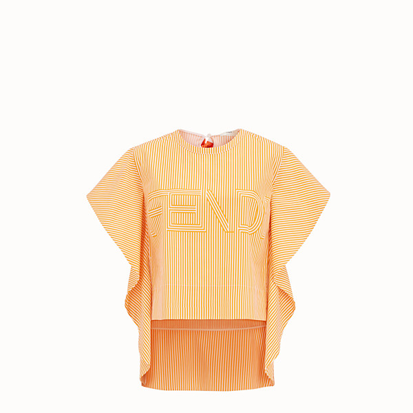 FENDI TOP - Orange cotton top - view 1 small thumbnail