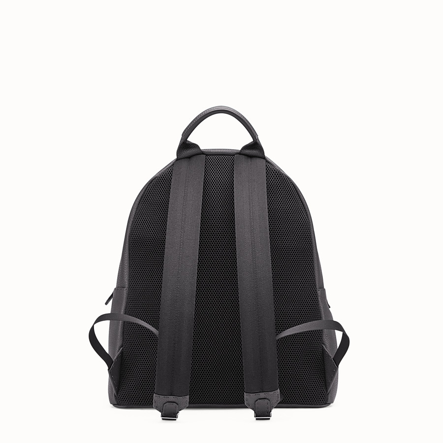 FENDI BACKPACK - Black Selleria backpack with stitching - view 3 detail