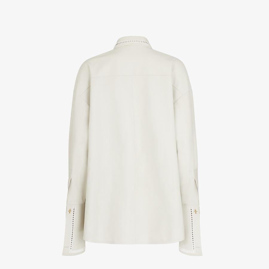 FENDI SHIRT - White nappa leather shirt - view 2 detail