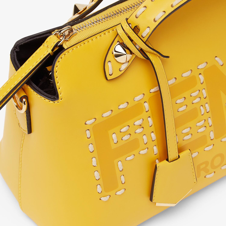 FENDI BY THE WAY MEDIUM - Yellow leather Boston bag - view 6 detail