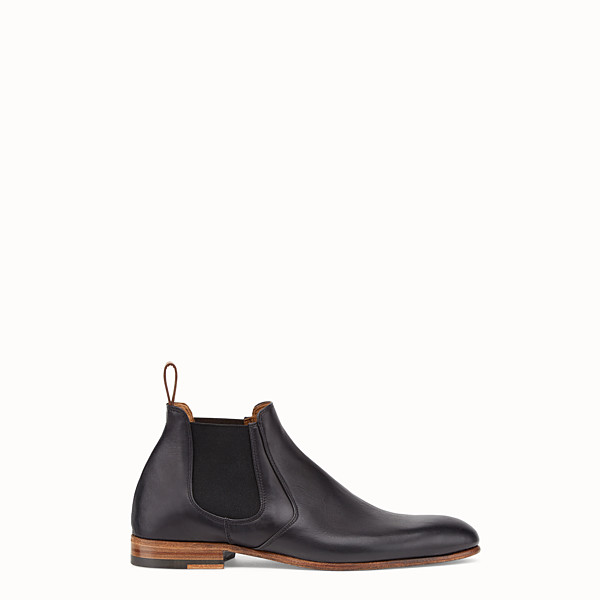 FENDI 及踝靴 - 黑色皮革靴子 - view 1 小型縮圖