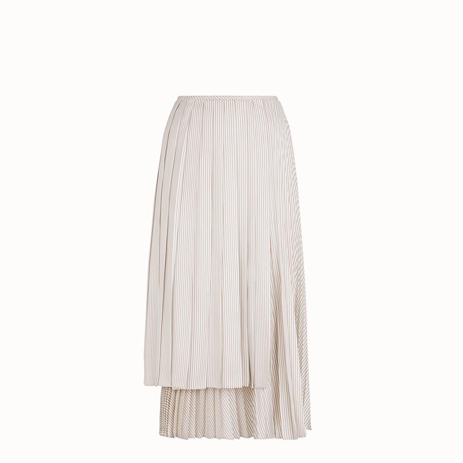 FENDI SKIRT - White satin skirt - view 1 detail