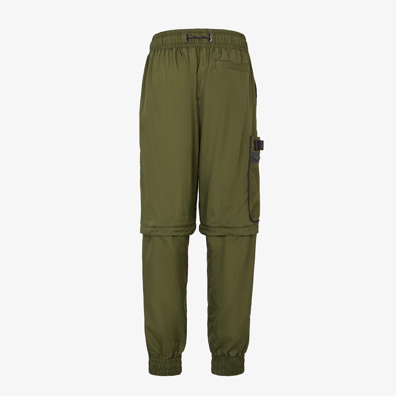 FENDI PANTS - Green nylon pants - view 2 detail