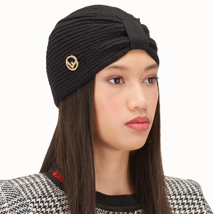 FENDI F IS FENDI HAT - Black wool hat - view 2 detail