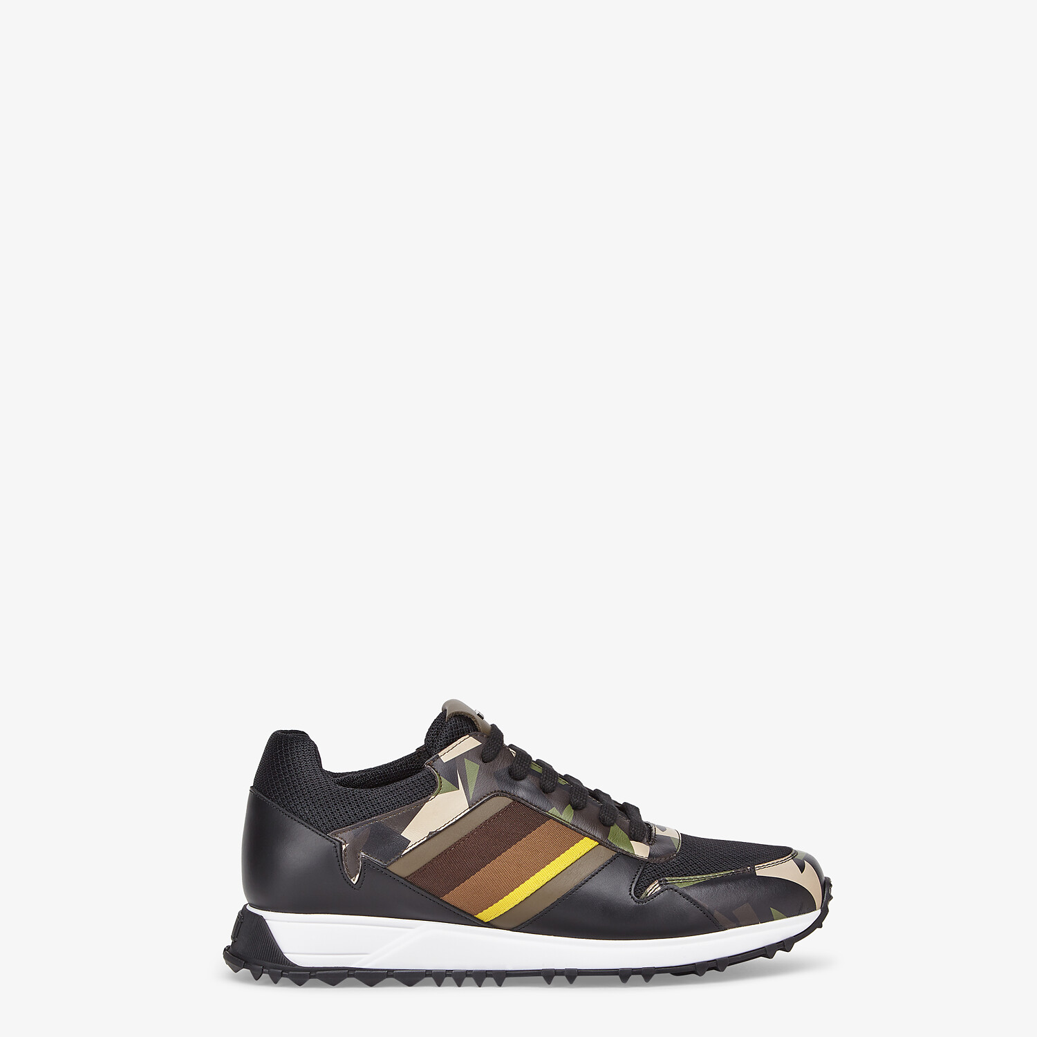 FENDI SNEAKERS - Multicolor leather low-tops - view 1 detail