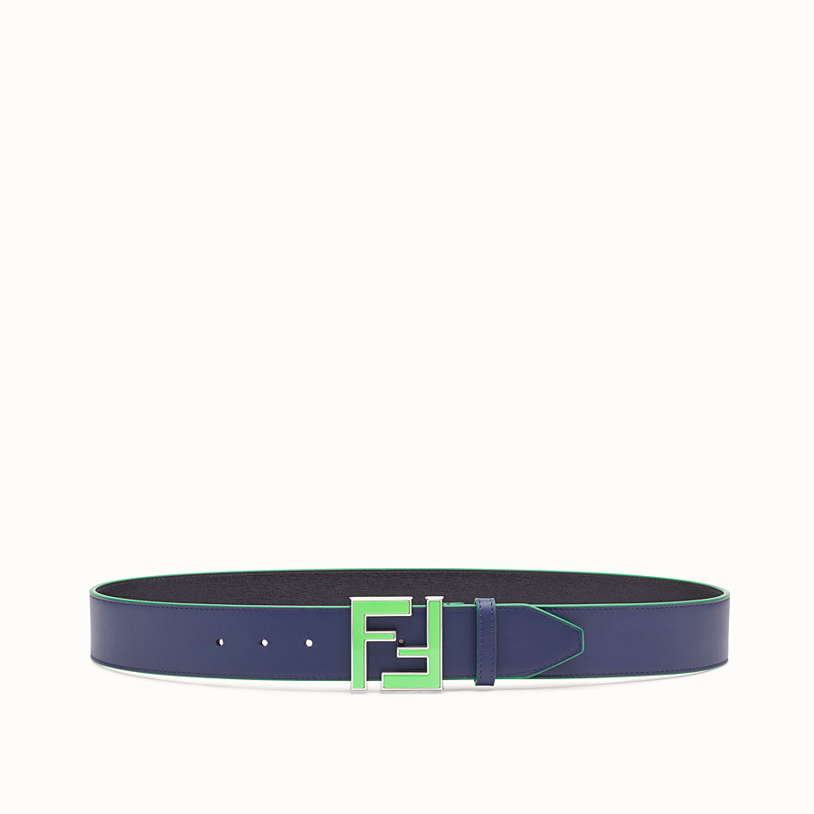 FENDI BELT - Purple leather belt - view 1 detail