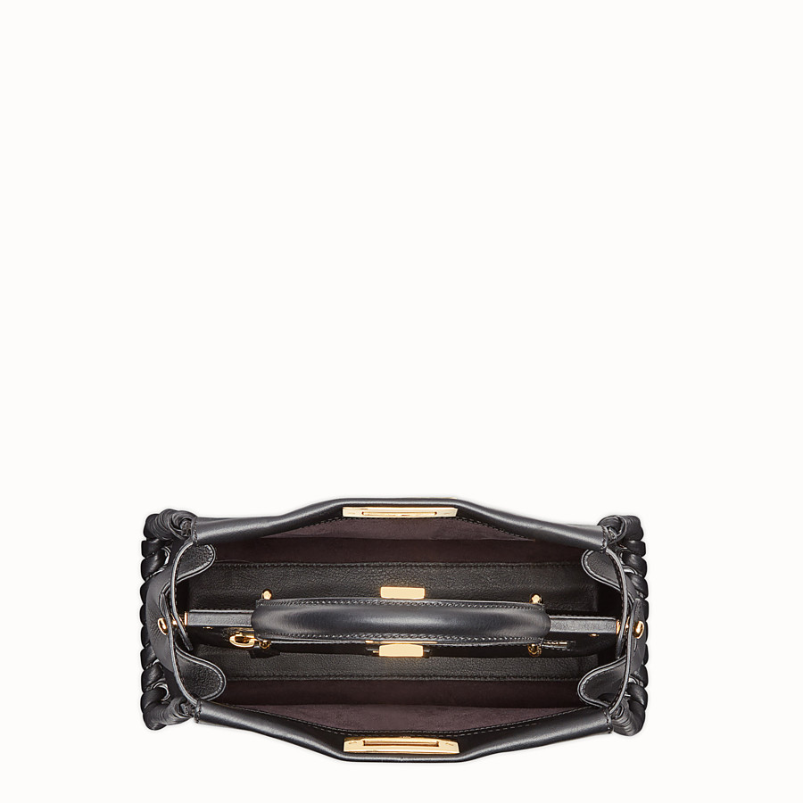 FENDI PEEKABOO REGULAR - Black leather bag - view 4 detail