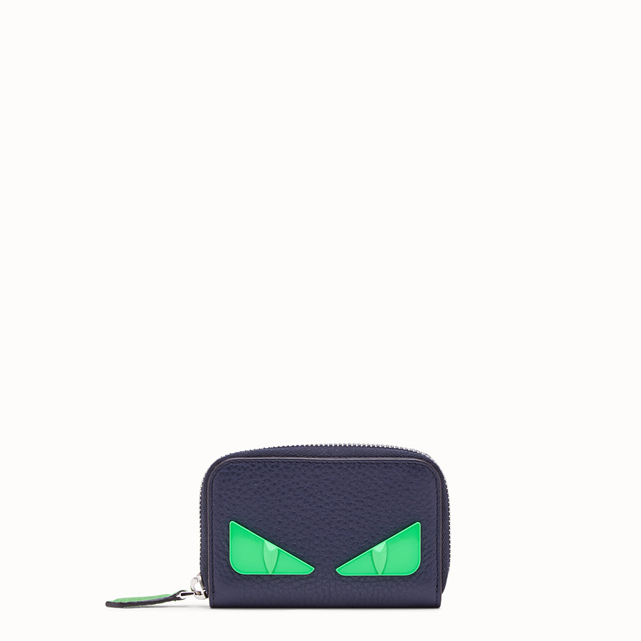 FENDI ZIP-AROUND - Blue Romano leather wallet - view 1 detail