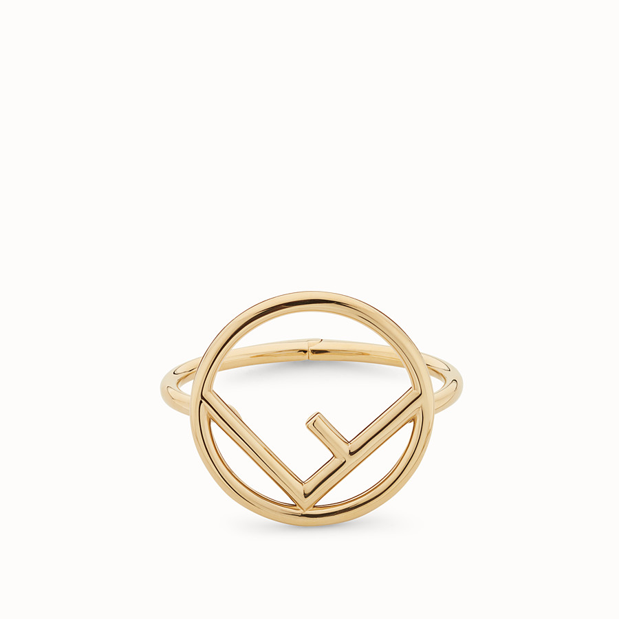 FENDI LOGO BRACELET - Gold colour bracelet - view 1 detail