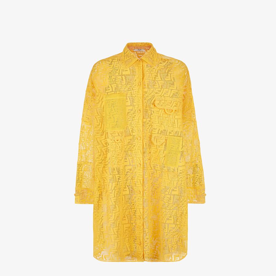 FENDI DRESS - Yellow lace dress - view 1 detail